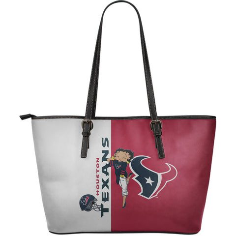 Houston Texans - Large Leather Tote Bag