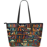 Book Lovers - Leather Tote Bag