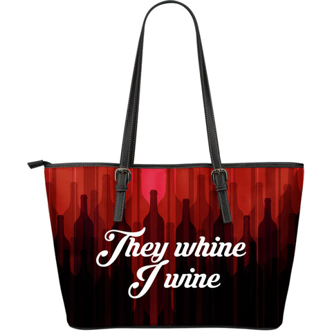 Wine lovers - Large Leather Tote Bag