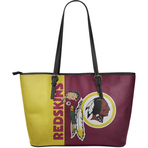 REDSKINS - Large Leather Tote Bag