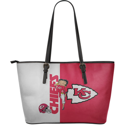Kansas City Chiefs - Large Leather Tote Bag