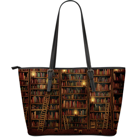 Library - Large Leather Tote Bag