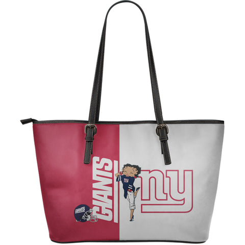 NEW YORK GIANTS - Large Leather Tote Bag