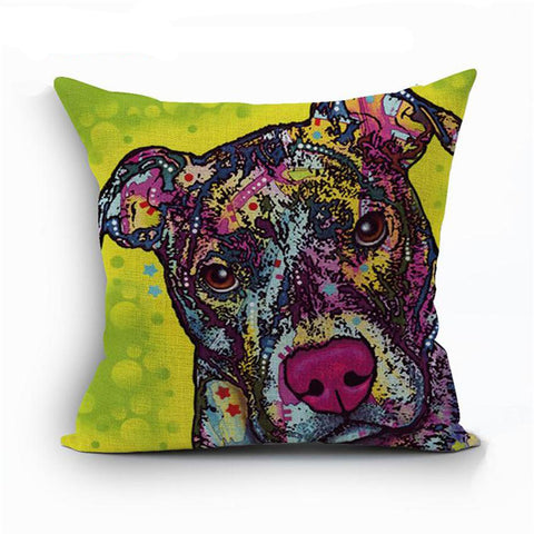 Pitbull Pop Art Styled Pillowcase