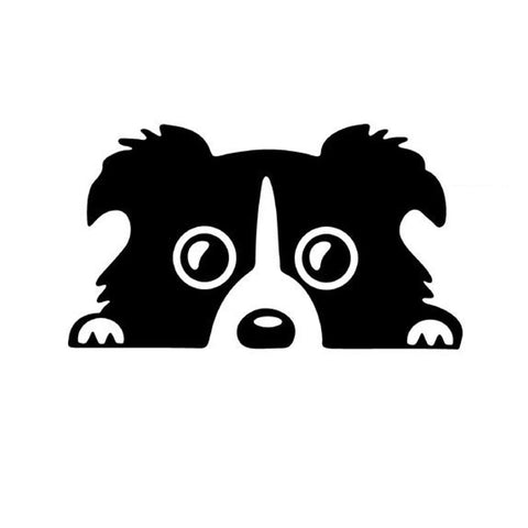 2 Pieces  17*10cm  Border Collie DOG Car Sticker