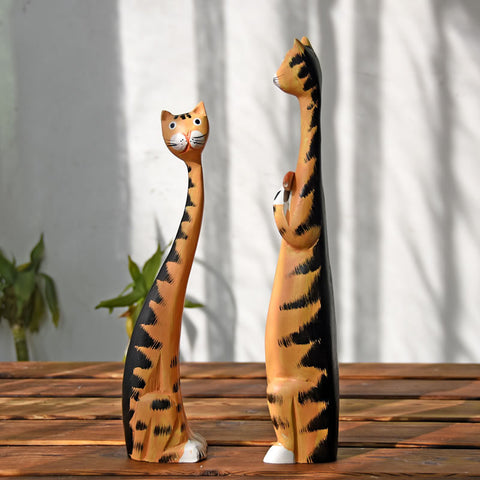 2pcs Wooden Cats