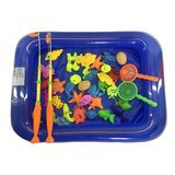 40pcs/lot With Inflatable pool Magnetic Fishing Toy