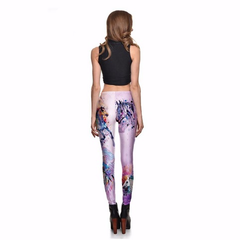 Fitness Slim Women's Gradient Colorful God Horse Leggings