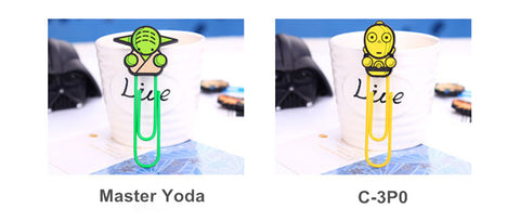 6 pcs/Lot Star wars Bookmarks Cartoon Paper Clips Holder