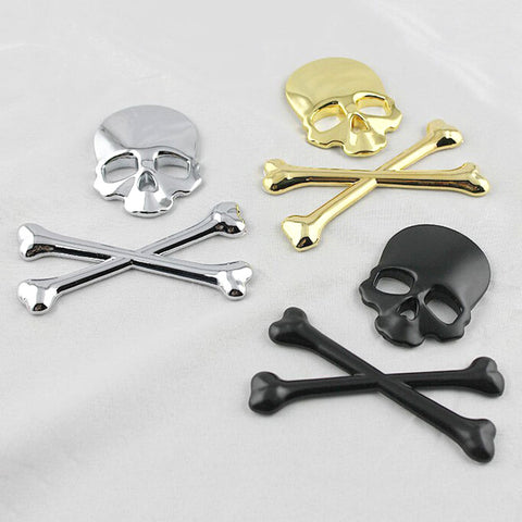 Car Styling Skull Metal Bone Badge For Jeep