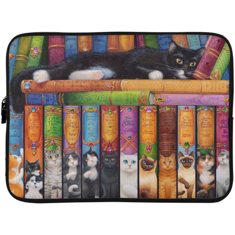 Cat Bookshelf - Laptop Sleeve 15 Inches H81