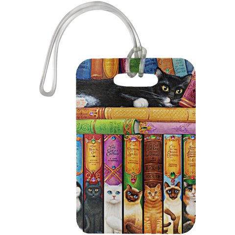 Funny Cat Book Series - Luggage Bag Tag - N95
