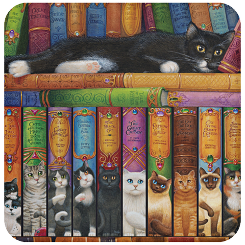 FUNNY CAT BOOK SERIES Coaster