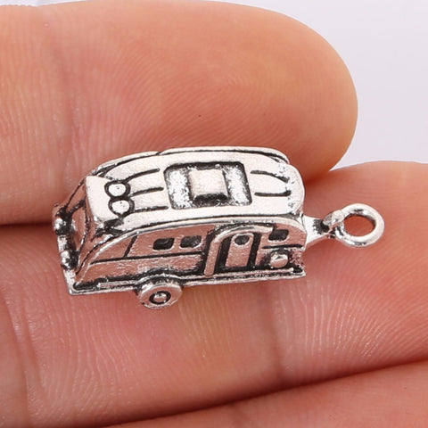 Set 3pcs Silver Camper Trailer Pendants