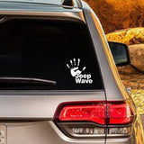 Jeep Wave Hand Vinyl Car Stickers and Decals for Jeep Wrangler