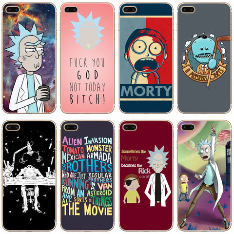 Rick And Morty Transparent IPhone Case