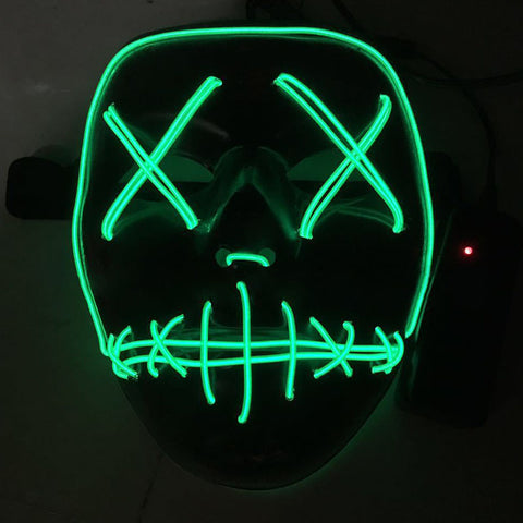 Halloween Mask Light Up Funny Mask Wire Light Up Neon Mask LED ...