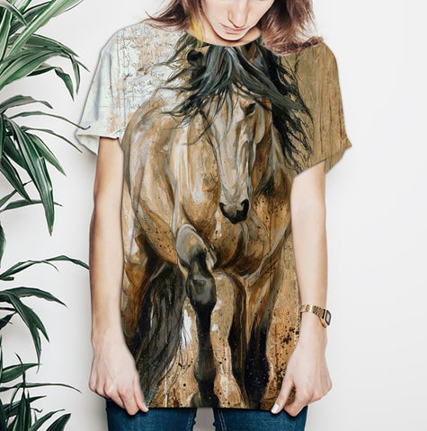 Horse Artwork V1 - All Over Print Shirt KL30