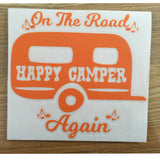 On The Road Again - Camper Decal (13x14cm)