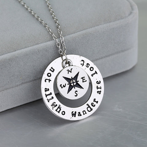 """ Not All Who Wander Are Lost"" Wanderlust Camper Necklace"
