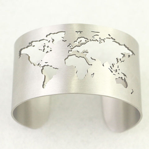 World cuff map bracelet 3 colors us gearlaunch world cuff map bracelet 3 colors gumiabroncs Image collections