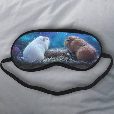 2 Guinea Pigs Under Starry Sky Sleeping Mask N94