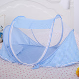 Mosquito Net with Cotton-padded Mattress Pillow Tent for 0-2 Years Old Baby Children