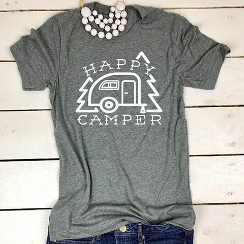 Happy Camper T-Shirt Short Sleeve KL30