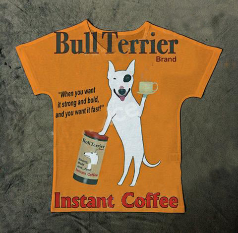 Bull Terrier Dog Hot Brand Cup of Coffee T Shirt