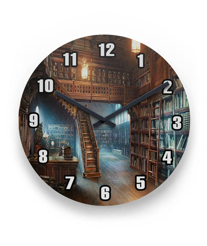 Library Room Wall Clock Round Wall Clock