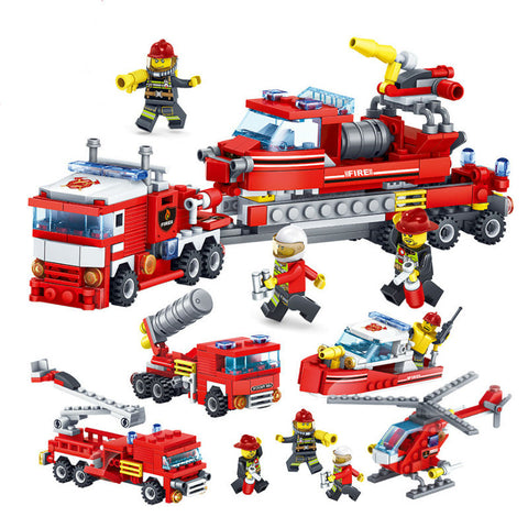 4 IN 1 Fire Fighters Bricks Toys for Children TN54