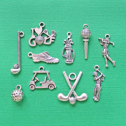 10pcs Golf Charm Collection H81