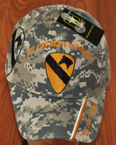 Military Camo 1st First Cavalry Division Army Hat