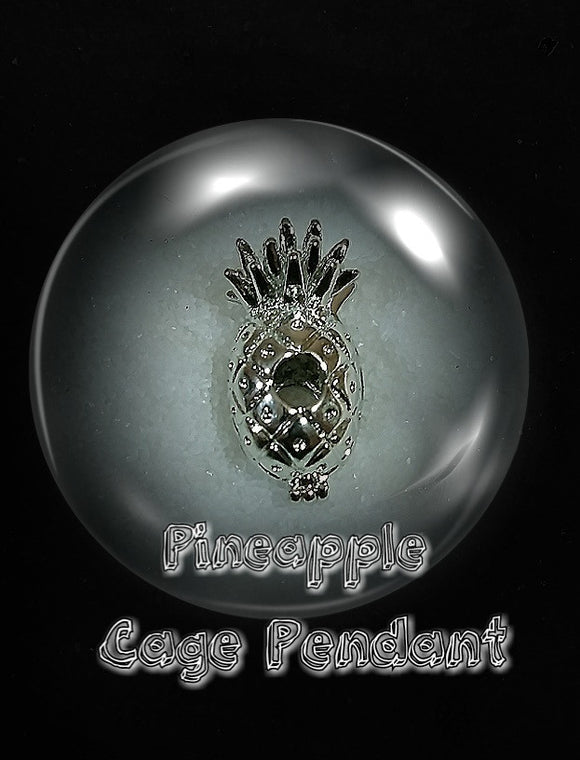 SO Pendant - Pearl Cage - Pineapple