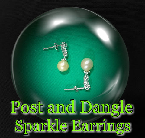 Earrings - Pearl Mount - Post and Dangle