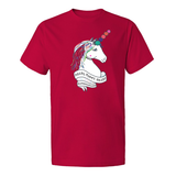 Pearl Party Crazy Unicorn Design, 1 sided t-shirt