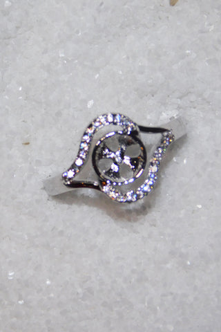 SO Rings - Pearl Mount - Double Hump Sparkle