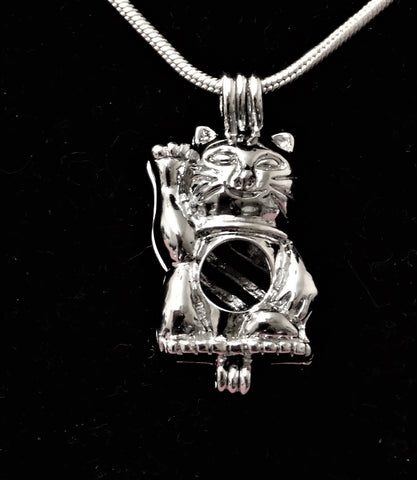 SO Pendant - Pearl Cage - Kitty Kat