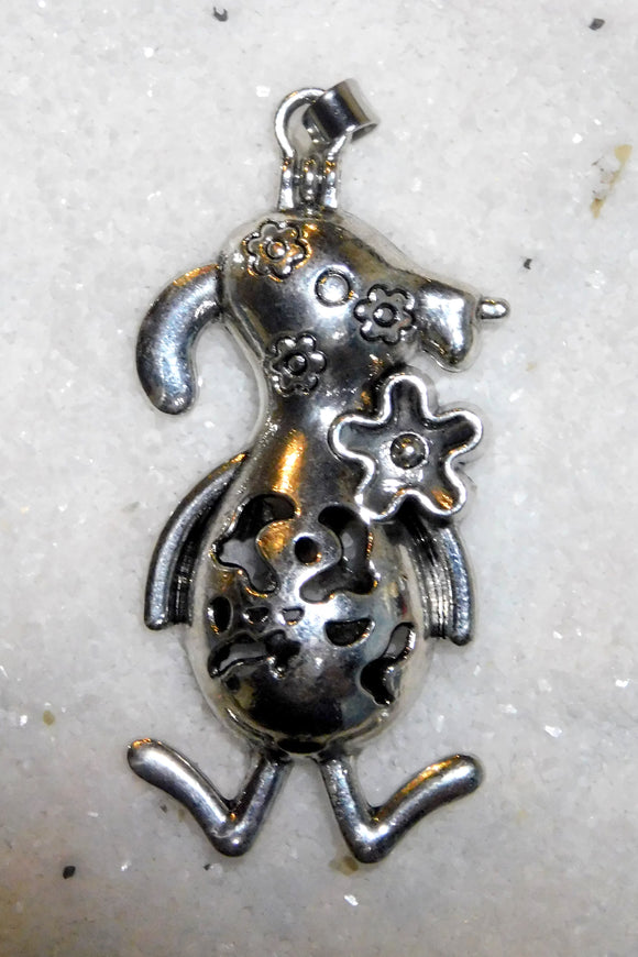 SO Pendant - Pearl Cage - Large Silly Dog