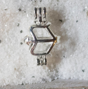 SO Pendant - Pearl Cage - Cupid's Bow and Arrow