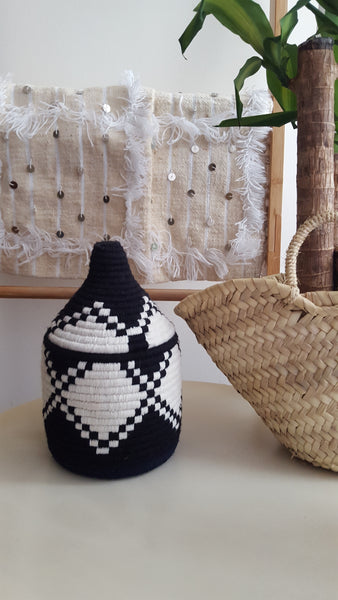 Hand Woven Box | Black and white
