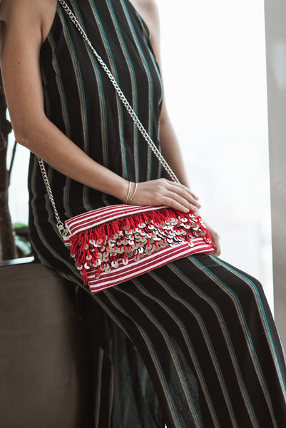 Kahina Red Crossbody bag & Clutch