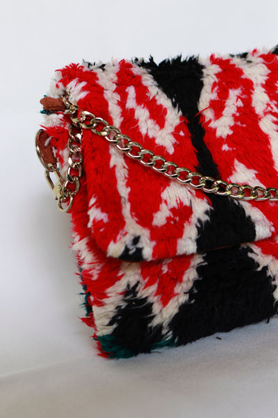 Rug Crossbody bag & Clutch | Blue & Red