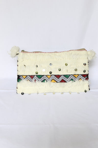 All White Atlas Clutch