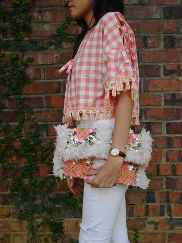 Maxi Clutch | Pinkish Fiesta