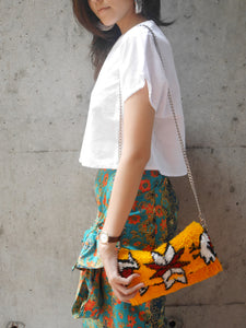 Rug Crossbody bag & Clutch | Birdy Yellow