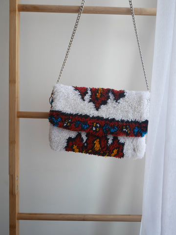 Rug Crossbody bag & Clutch | Snow white