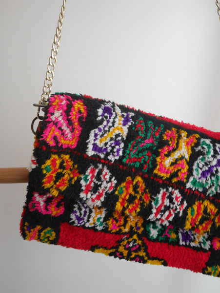 Rug Crossbody bag & Clutch | Pink Chequers