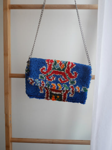 Rug Crossbody bag & Clutch | Festive Blue