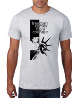 Freedom Comes From Courage - Men's Short sleeve t-shirt